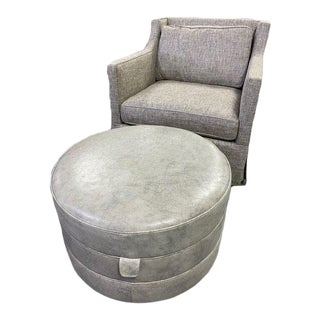 Custom Chair and Ottoman For Sale