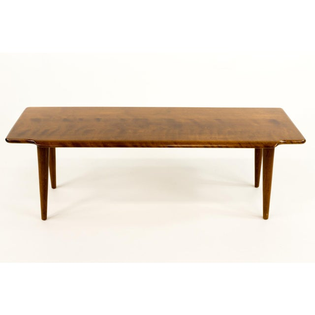 Russel Wright Mid-Century Modern Russel Wright Style Bench or Coffee Table For Sale - Image 4 of 5