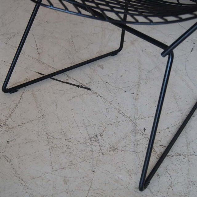 Knoll International Vintage Black Knoll Bertoia Diamond Lounge Chair For Sale - Image 4 of 4