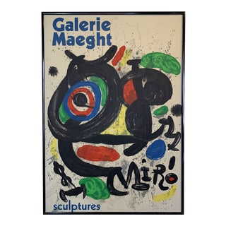 Vintage Framed Galerie Maeght Joan Miró Poster For Sale