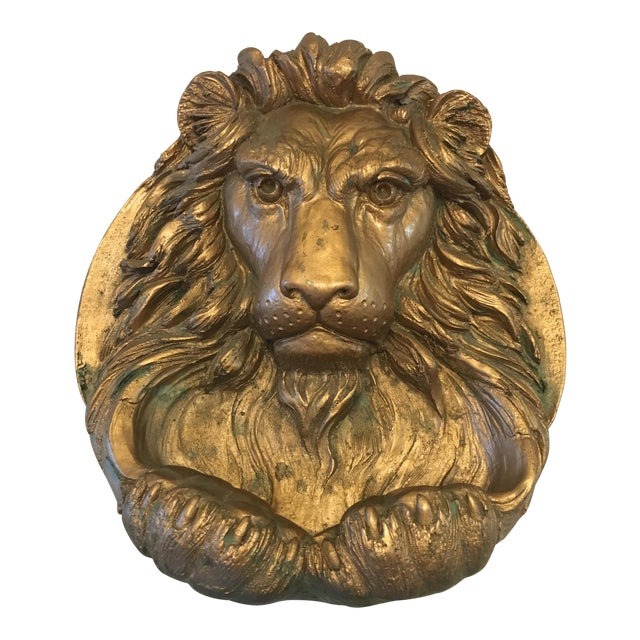 Lion Head Wall Sculpture For Sale