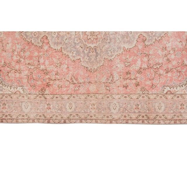 """Vintage Floral Woolen Sparta Rug 6' X 8'9"""" For Sale - Image 4 of 11"""