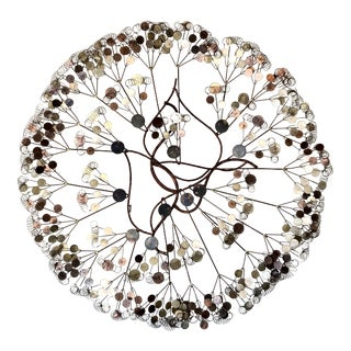 Curtis Jere 'Raindrops' Wall Art Sculpture For Sale