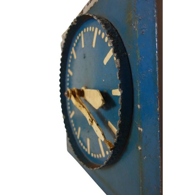 Early 20th Century Double-Sided Clock Teaching Aid For Sale - Image 5 of 9