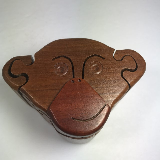 Wood Wooden Monkey Puzzle Box For Sale - Image 7 of 9