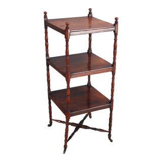 3-Tiered Rosewood Whatnot Shelf For Sale