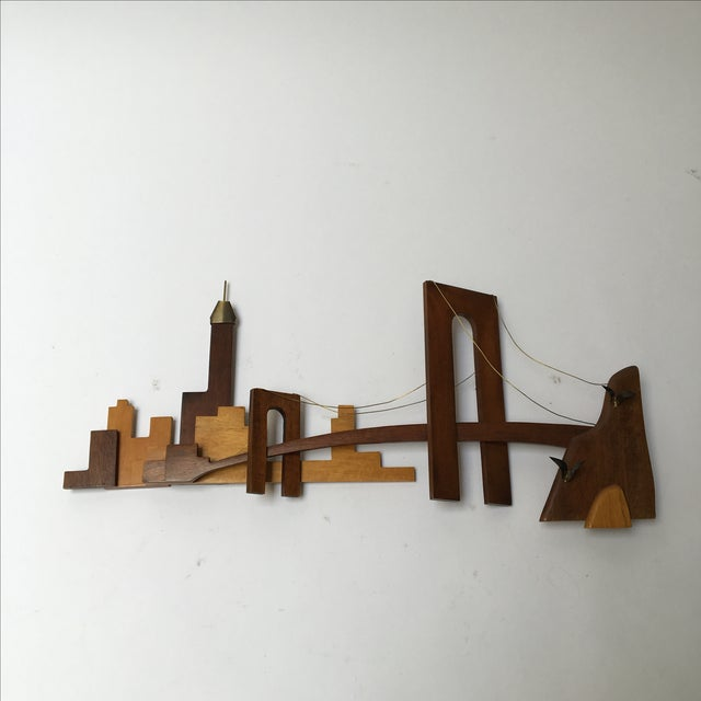 Vintage Wooden Wall Sculpture - Image 2 of 10