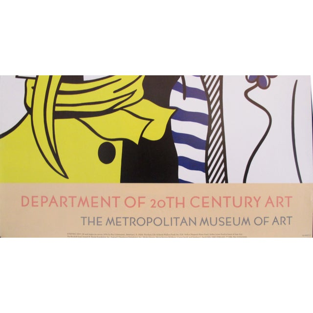 Date: 1986 Size: 24 x 34 inches Artist: Roy Lichtenstein An beautiful poster the Department of 21st Century Art at the...
