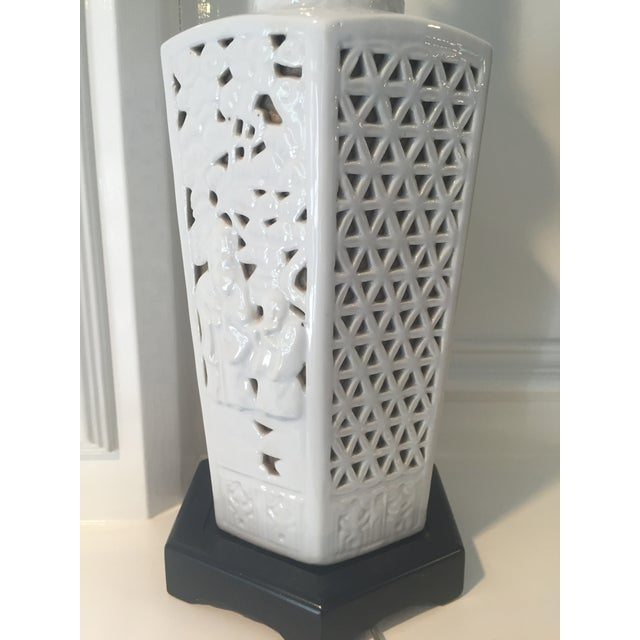 Blanc De Chine Table Lamp For Sale - Image 4 of 8