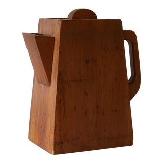 1940s Rustic Box Shaped Like a Coffee Pot For Sale