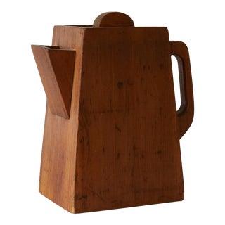 1940s Rustic Box Shaped Like a Coffee Pot For Sale