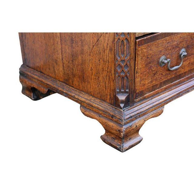 Oak George III Oak And Inlaid Cupboard/ Dresser For Sale - Image 7 of 10