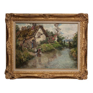 Frederic Charles Vipont Ede Original Oil Painting For Sale