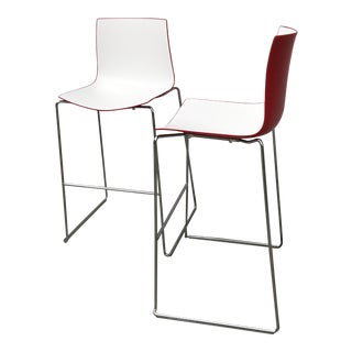 Early 21st Century Contemporary Modern Arper Catifa 46 Bar Stools- A Pair For Sale