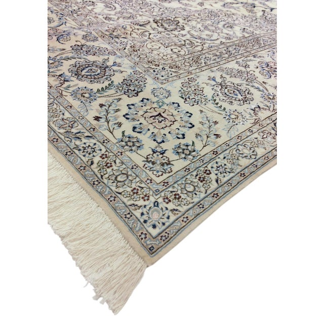 "Islamic Pasargad Persian Nain Silk & Wool Rug - 8' 8"" X 12' 1"" For Sale - Image 3 of 5"