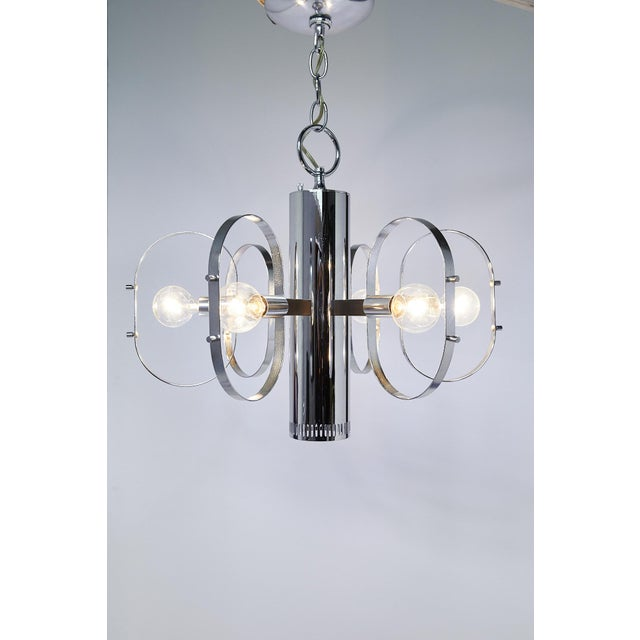 Mid-Century Modern Mid-Century Modern 7-Light Chrome Fixture by Forecast Lighting For Sale - Image 3 of 13