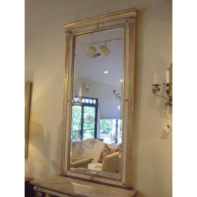 Mid 19th Century 19th C. Italian Neoclassical Style Painted Console and Mirror For Sale - Image 5 of 7