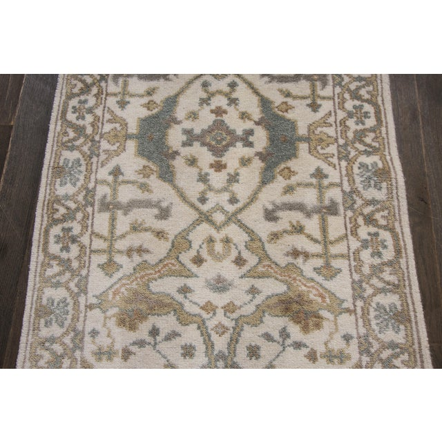 "Early 21st Century 21st Century Oushak Style Rug, 2'7"" X 20' For Sale - Image 5 of 7"