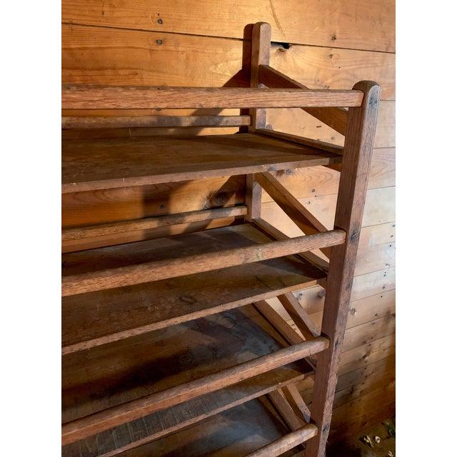 Wood Vintage Wood Bakery Bread Rack For Sale - Image 7 of 11