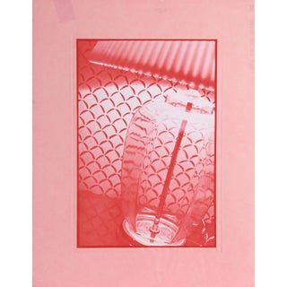 """Robert Rauchenberg, Pink Lamp, Photogravure on Pink Paper, """"Iris Edition Proof Ng"""" in Pencil For Sale"""