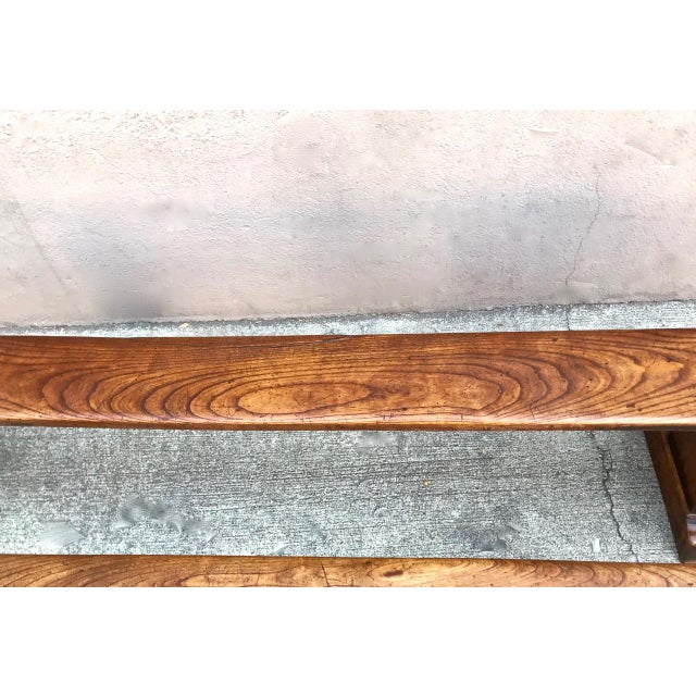 Wood 19th Century Antique Benches - a Pair For Sale - Image 7 of 12
