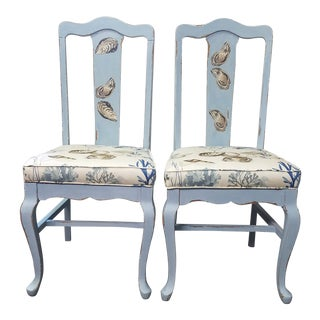 Painted Antique Chairs- a Pair For Sale