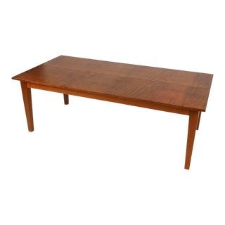 Old Growth Solid Redwood Dining Table For Sale