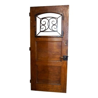 Late 19th Century French Entry Door, Circa 1880 For Sale