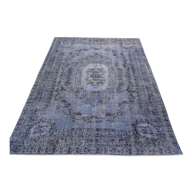 Turkish Overdyed Rug - 6′5″ × 9′9″ For Sale - Image 4 of 9
