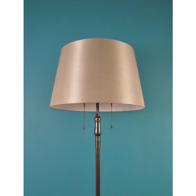 BAG Turgi Large Brass Floor Lamp, Bag Turgi, Zurich, Switzerland, Circa 1940s For Sale - Image 4 of 11