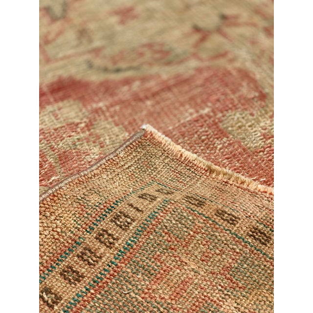 1920s Antique Distressed Turkish Oushak Area Rug - 6′6″ × 9′4″ For Sale - Image 4 of 13