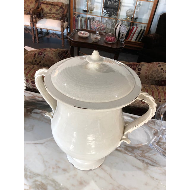 White Fortunata Italian Ceramic White Urns - a Pair For Sale - Image 8 of 13