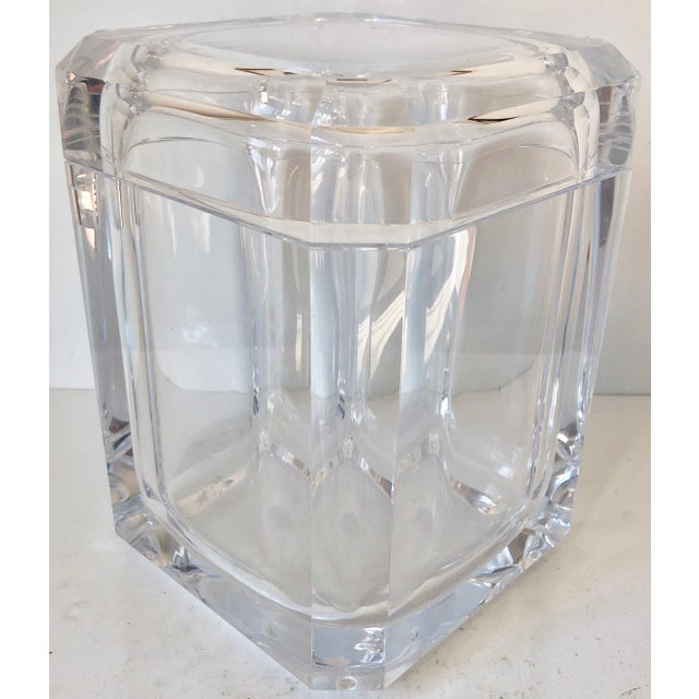 Alessandro Fabrizzi Lucite Ice Bucket For Sale - Image 9 of 10