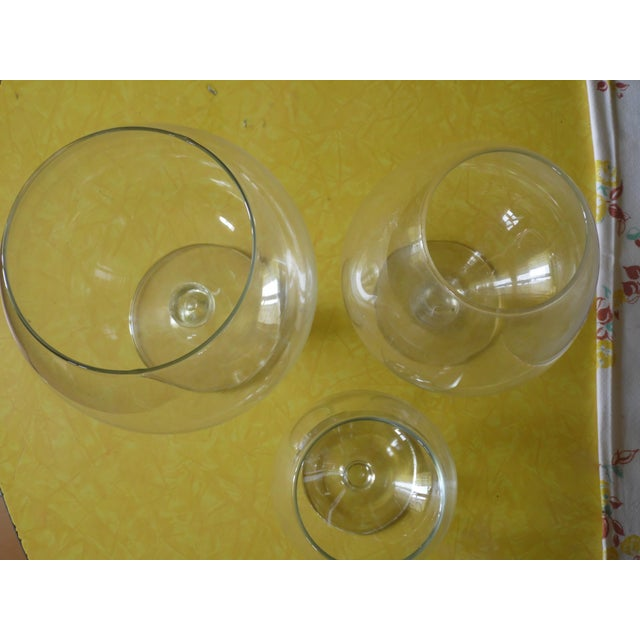 Pedestal Glass Vases - Set of 3 - Image 5 of 5