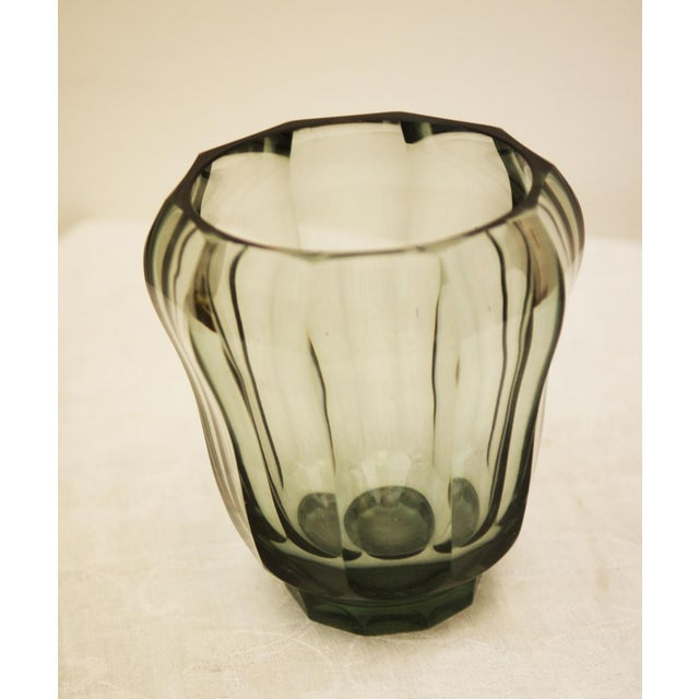 Art Deco crystal vase For Sale - Image 4 of 5