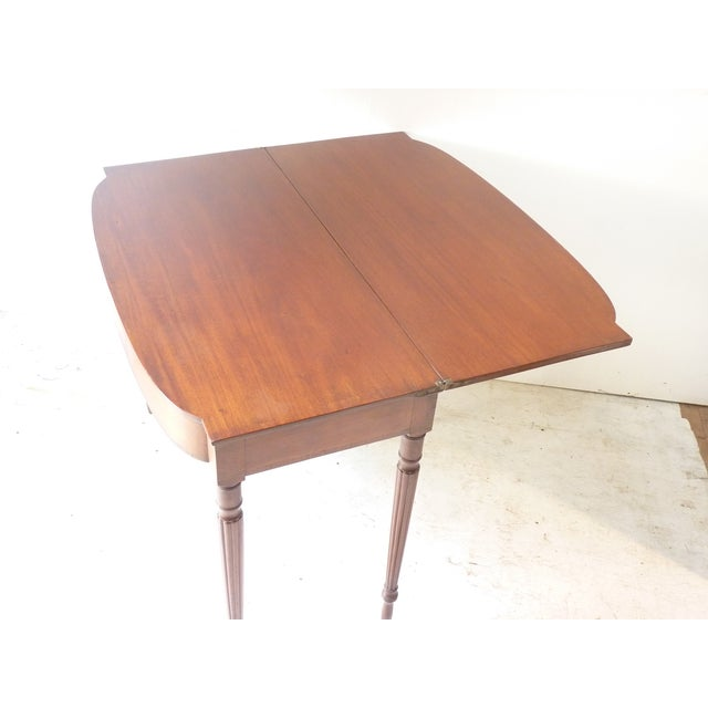 American 19th Century Early American Mahogany Demi-Lune Card Table For Sale - Image 3 of 8