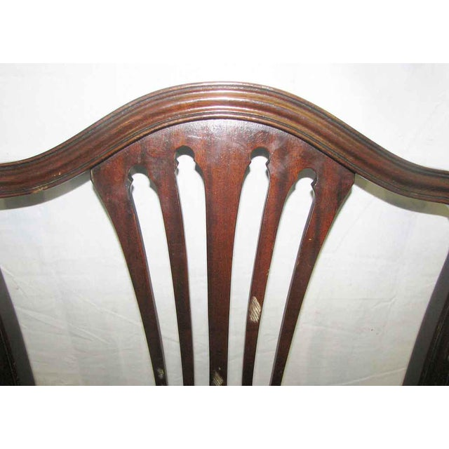 Americana Antique Mahogany Dining Chairs - Set of 5 For Sale - Image 3 of 10