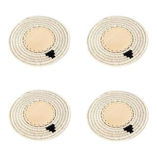 Round Coasters Cream - Set of 4 For Sale