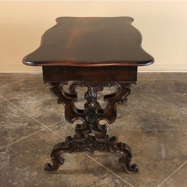19th Century French Napoleon III Rosewood Writing Desk For Sale - Image 10 of 13