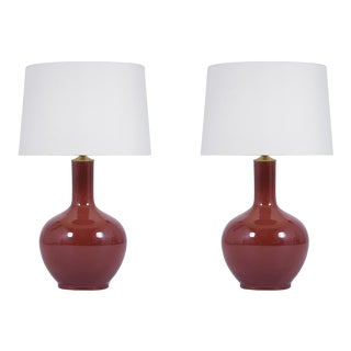 Vintage Pair of Mid Century Modern Ceramic Table Lamps For Sale