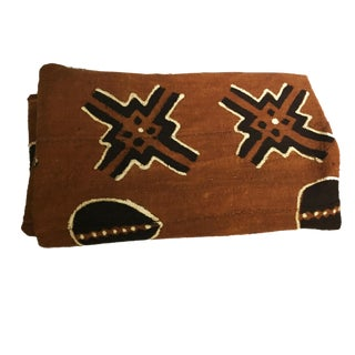 "Superb Bogolan Mali Mud Cloth Textile 40"" by 60"" For Sale"