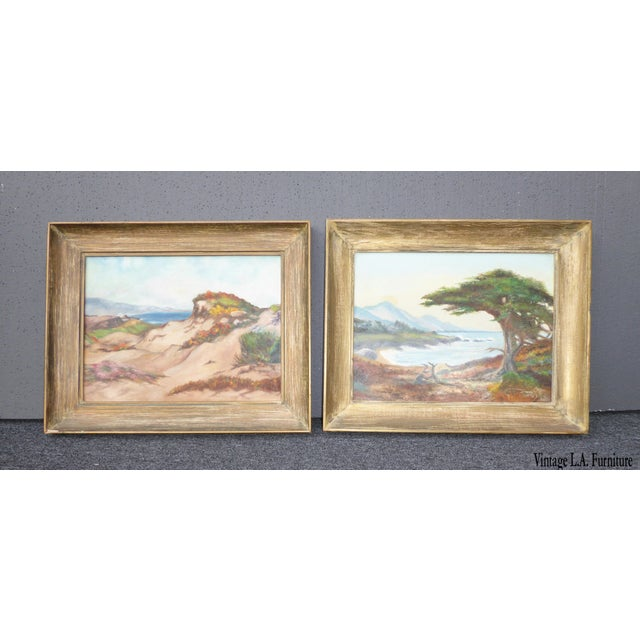 """""""Montaña De Oro State Park"""" Oil Paintings - A Pair For Sale - Image 11 of 11"""