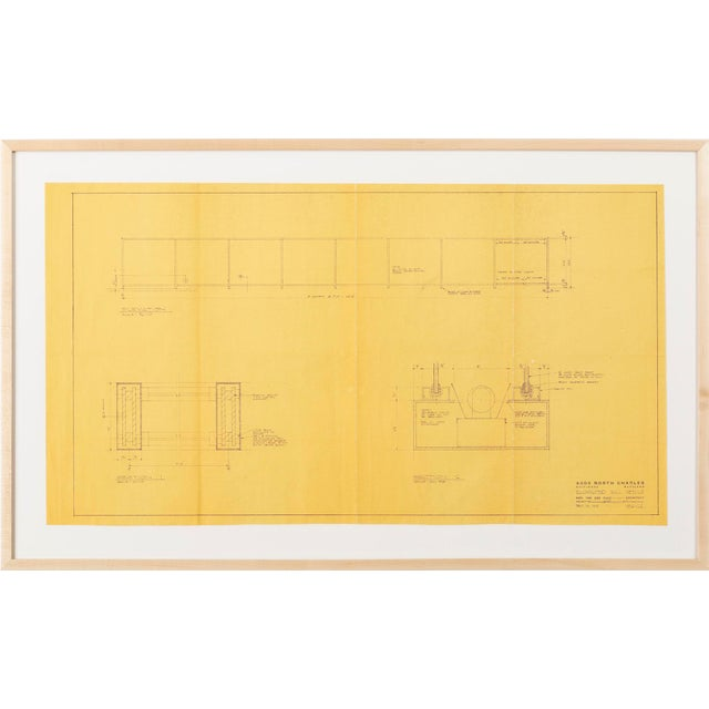 Print from the office of Ludwig Mies van der Rohe, Chicago, 1964 4000 North Charles Apartment Building, Baltimore, MD...