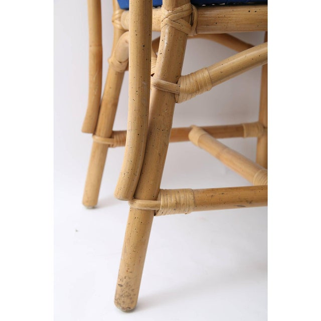 Late 20th Century Vintage Chippendale Style Bamboo Side or Dining Chairs - a Set of 4 For Sale - Image 5 of 13