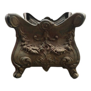Late 19th Century French Cast Iron Planter For Sale