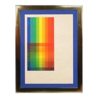 "Embossed ""Spectrum Viii"" Serigraph by Audrey Brendahl Kuhn For Sale"