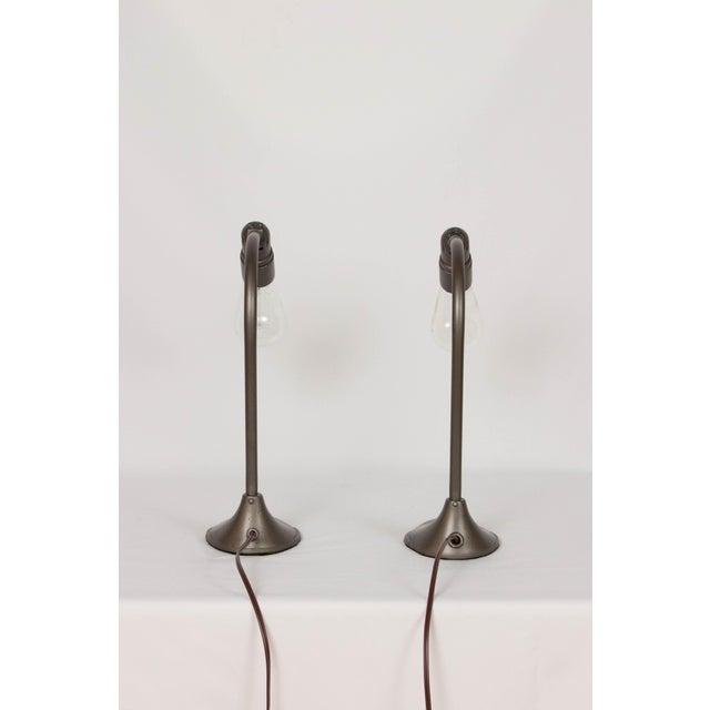 Minimalism Machine Age Minimalist Desk Lamps - a Pair For Sale - Image 3 of 5