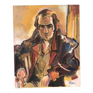 Late 20th Century Regone Pierrakos Oil on Canvas For Sale