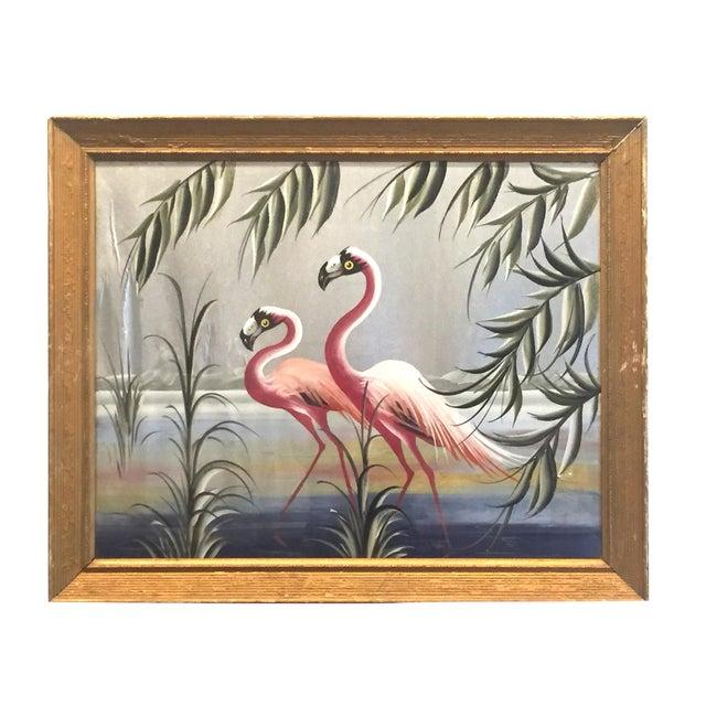 Hollywood Regency Flamingo Art - Image 1 of 6