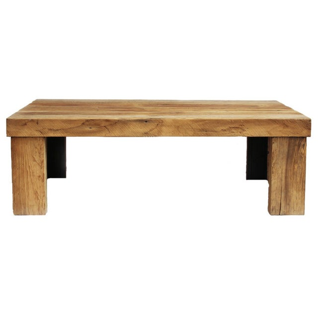 Reclaimed oak coffee table chairish Where can i buy reclaimed wood near me